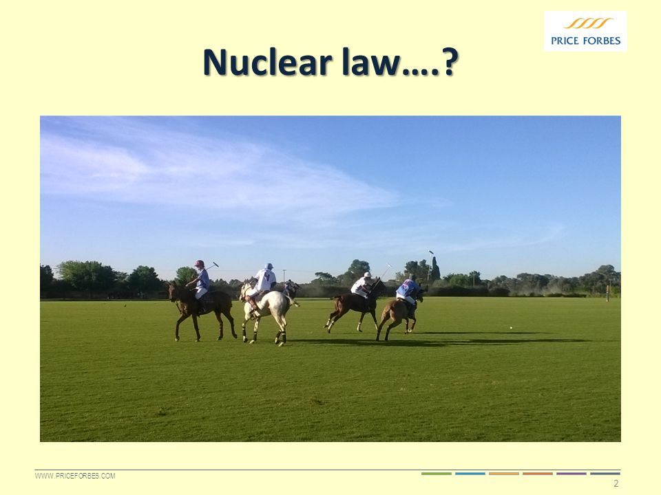 WWW.PRICEFORBES.COM Nuclear law…. 2