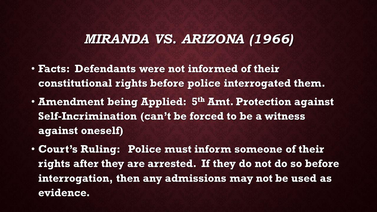 MIRANDA VS.