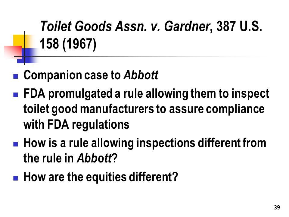39 Toilet Goods Assn. v. Gardner, 387 U.S.