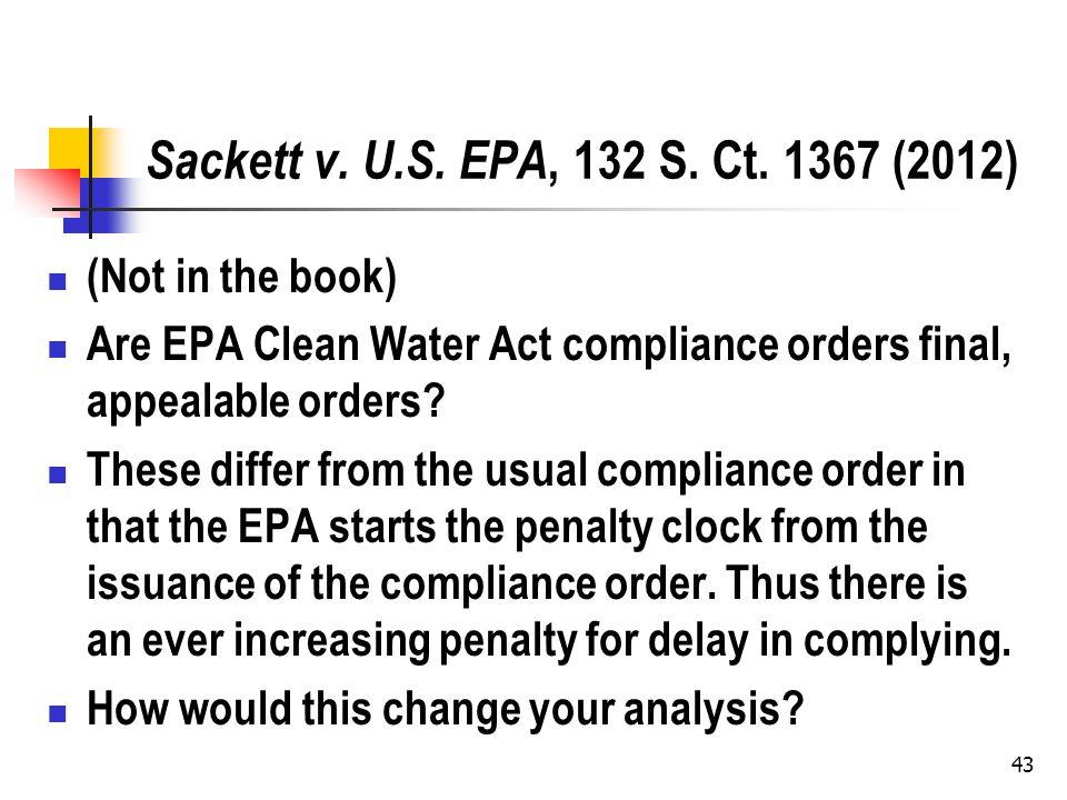 Sackett v. U.S. EPA, 132 S. Ct.