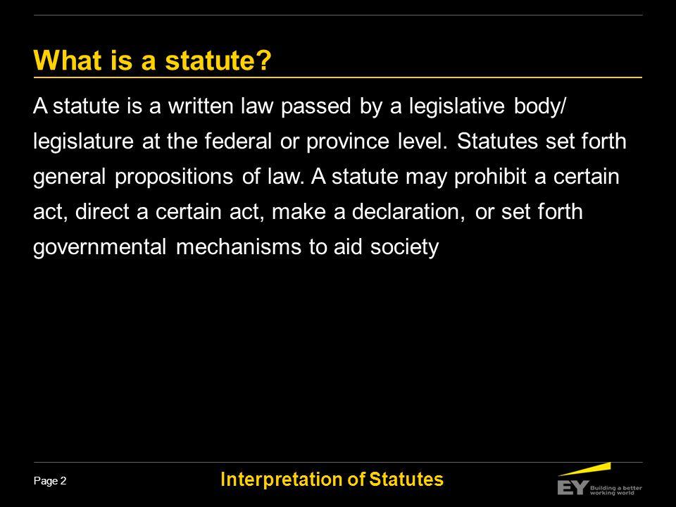 Interpretation of Statutes Page 33 Conjunctive and Disjunctive words The word and is conjunctive and the word or is disjunctive.
