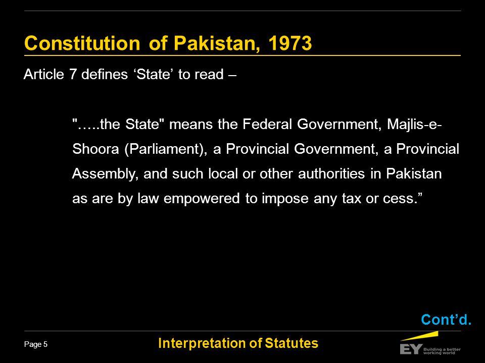 Interpretation of Statutes Page 16 Interpretation of Statutes Statutory interpretation is the process by which courts interpret and apply legislation.
