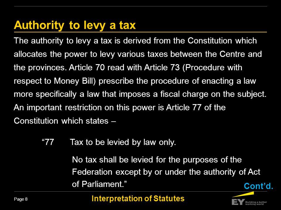 Interpretation of Statutes Page 29 Title Title is not part of enactment.
