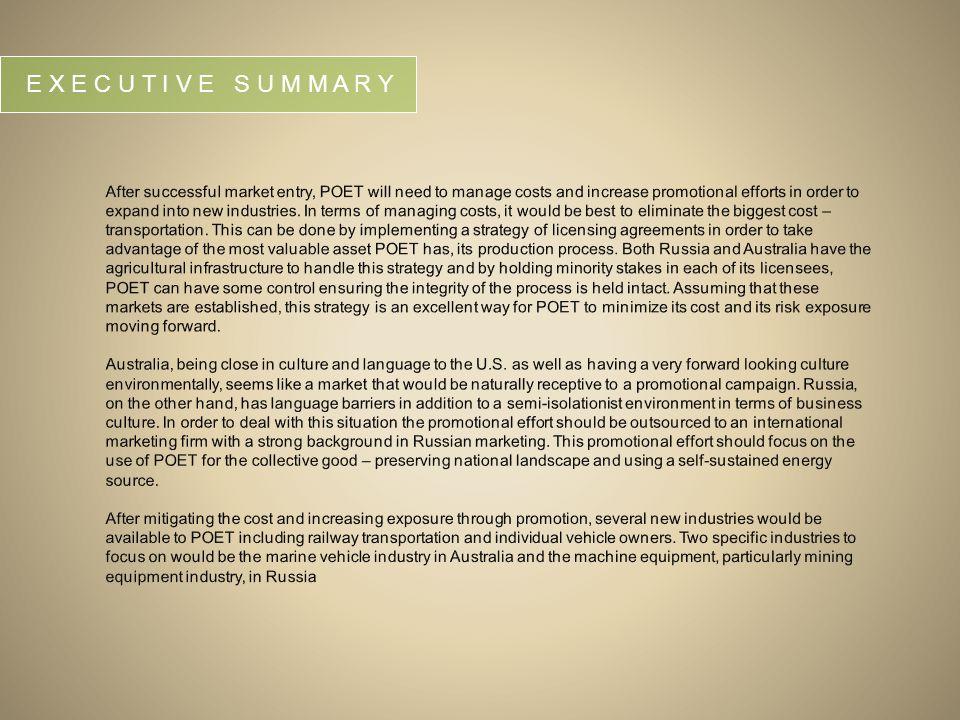 Summary Environmental Analysis: Russia