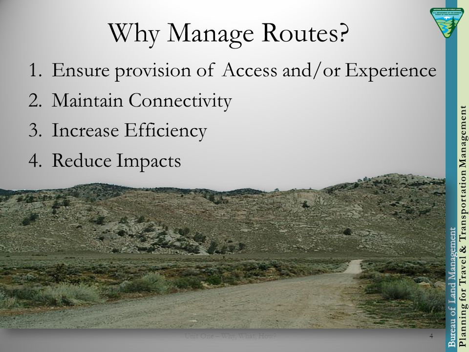 Why Manage Routes.