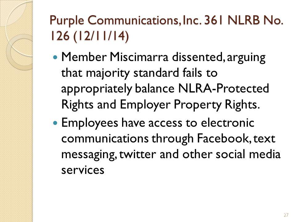 Purple Communications, Inc. 361 NLRB No.