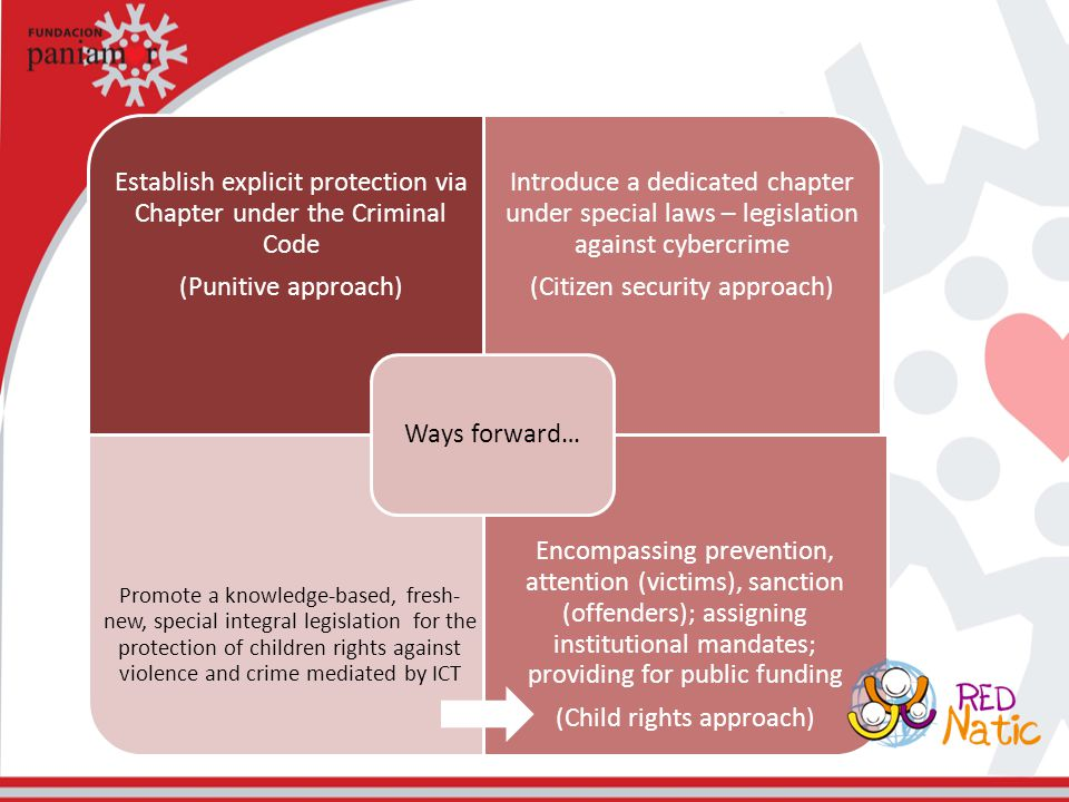 Establish explicit protection via Chapter under the Criminal Code (Punitive approach) Introduce a dedicated chapter under special laws – legislation a
