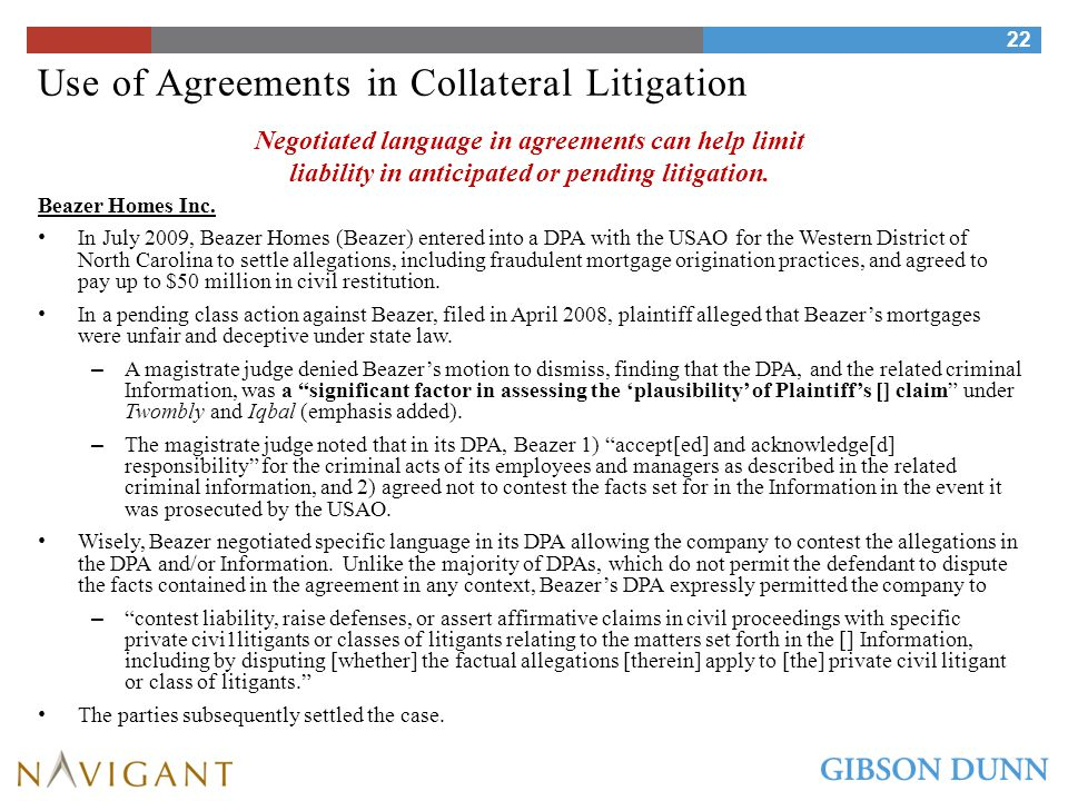 Avoiding Suspension and Debarment under DPAs and NPAs Suspension and debarment (and cross-debarment) from government contracts under U.S., E.U., and global development bank rules can represent a corporate death sentence for contractors and pharmaceutical companies with substantial government sales.