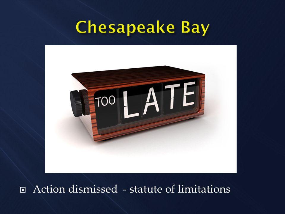  Action dismissed - statute of limitations