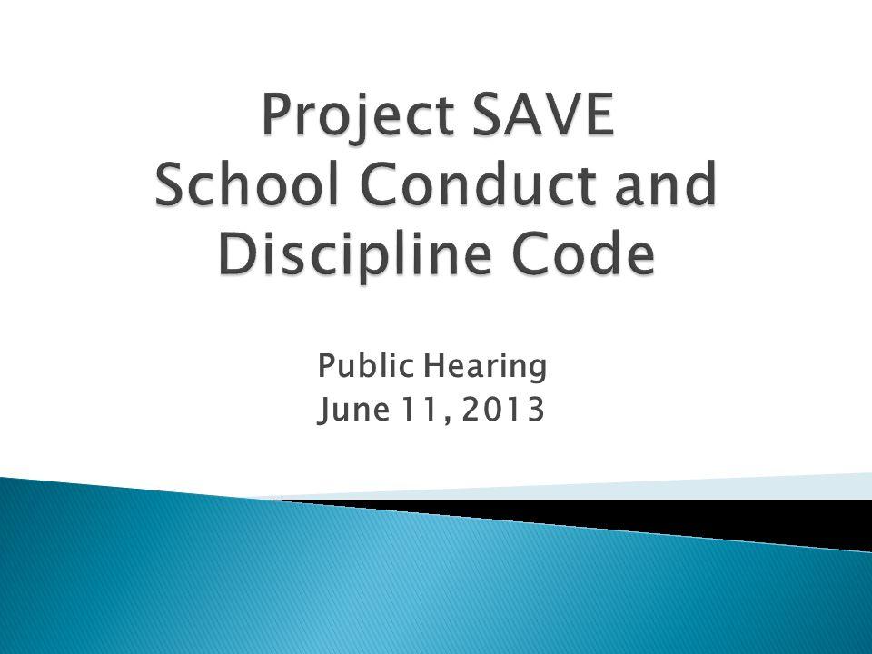 Public Hearing June 11, 2013