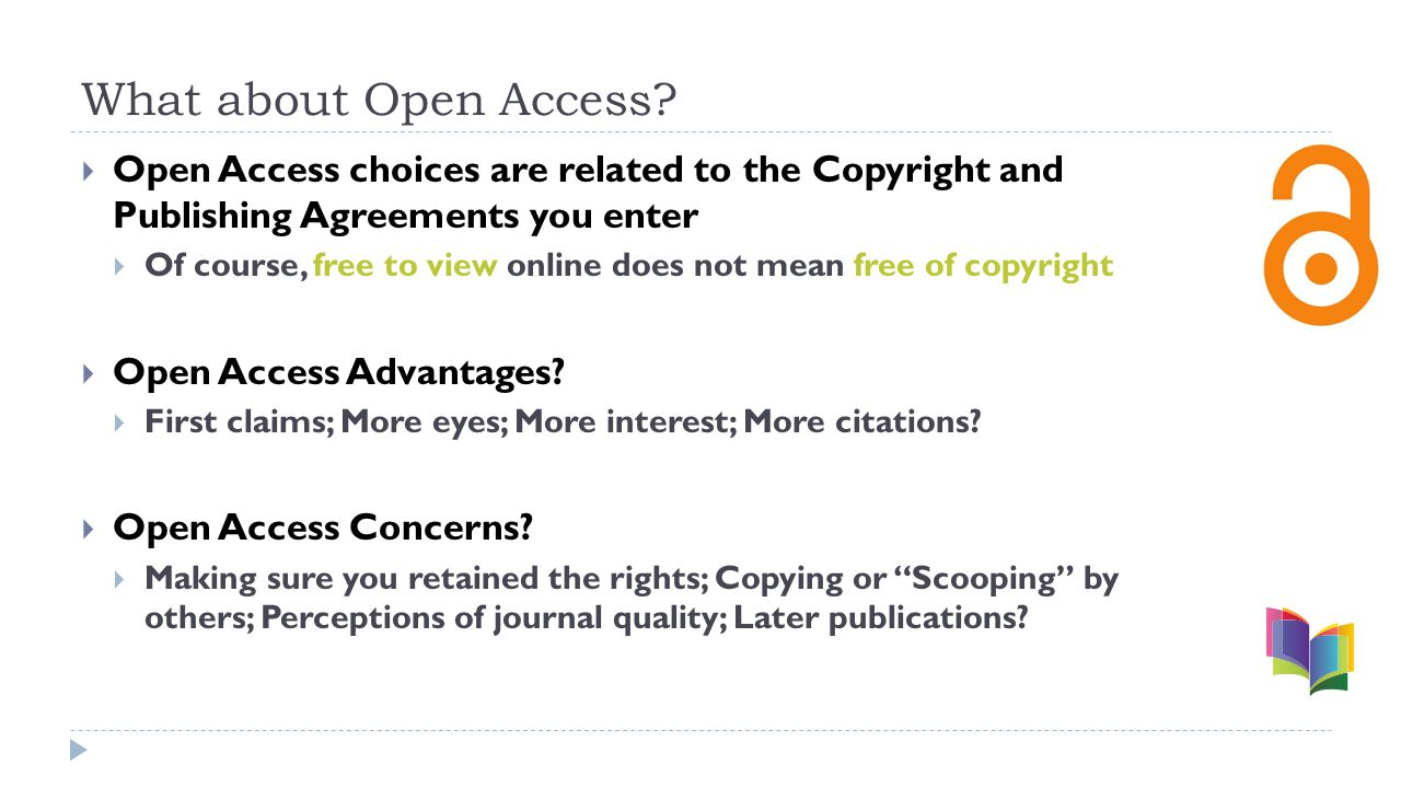 What about Open Access.