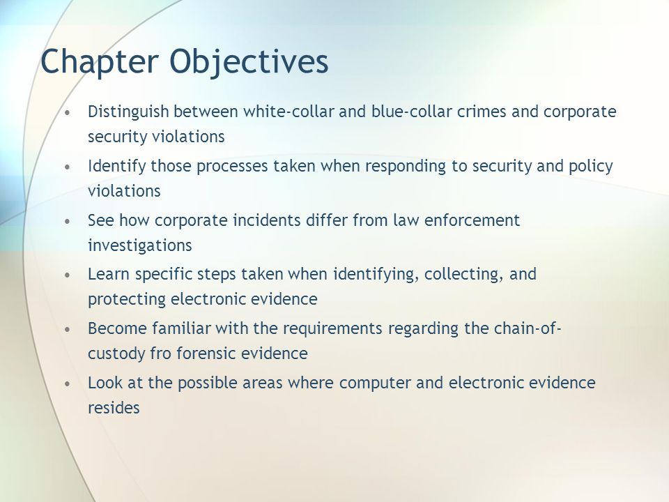 Introduction Computer and electronic evidence consists of data and information that is stored on or transmitted by some device.