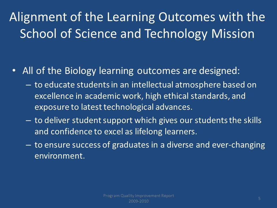 Learning Outcomes 2 and 3 Senior Capstone Oral and Written Assessment 2009-2010 Program Quality Improvement Report 2009-2010 26 No.