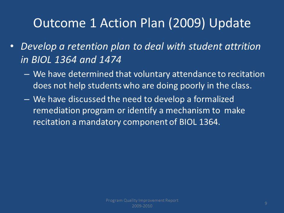 2010 – 2011 General Action Plan Contd.