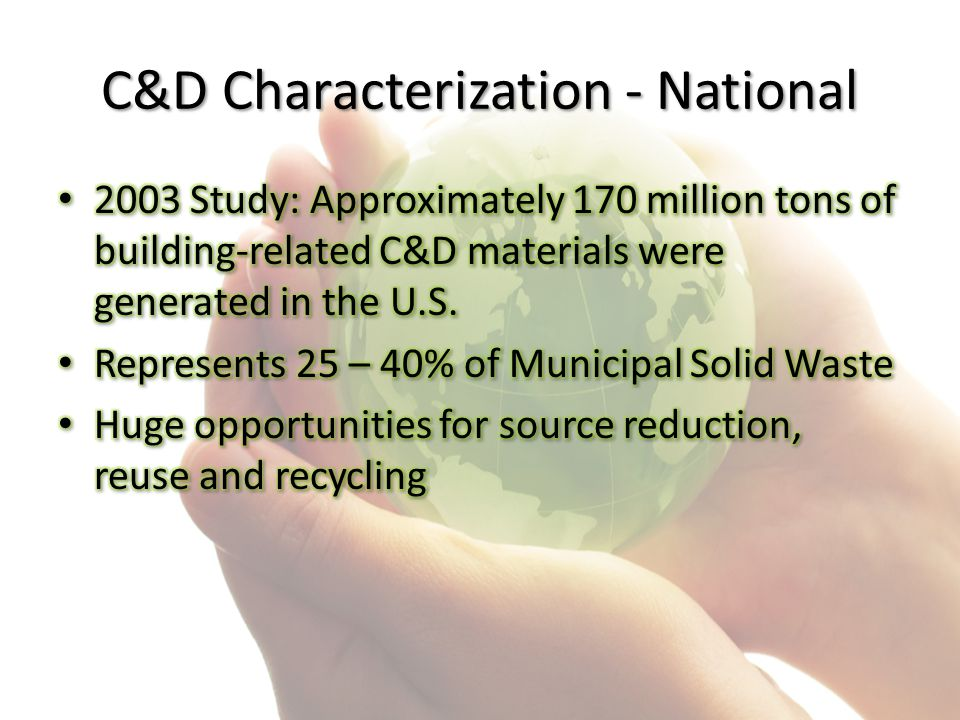 C&D Characterization - National