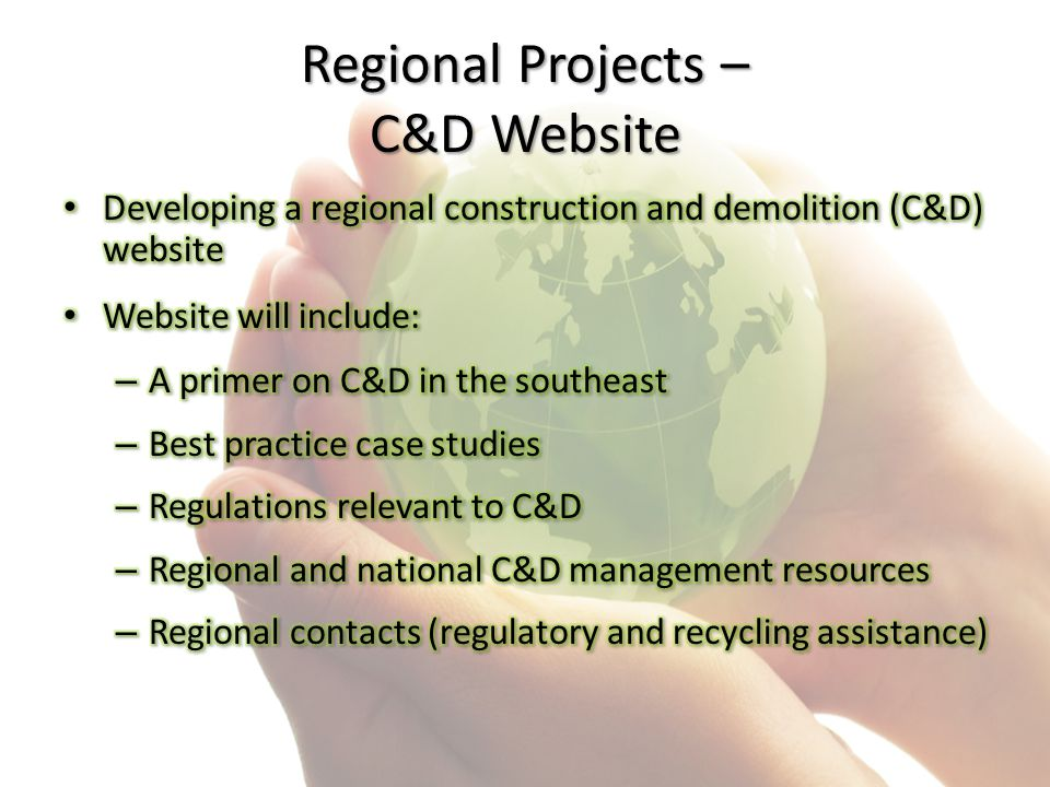 Regional Projects – C&D Website