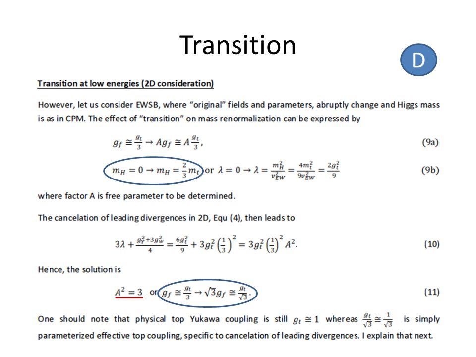 Transition D
