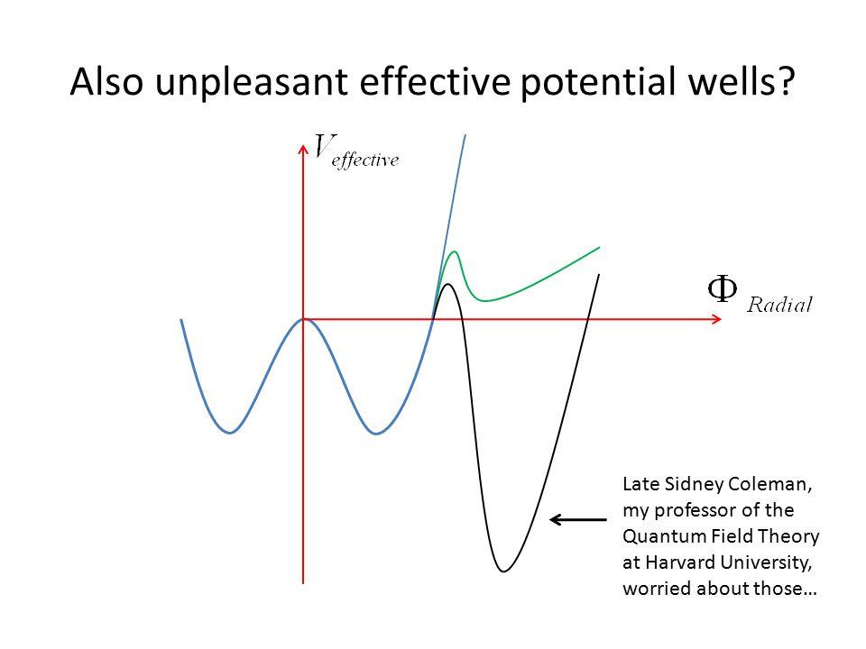 Also unpleasant effective potential wells.