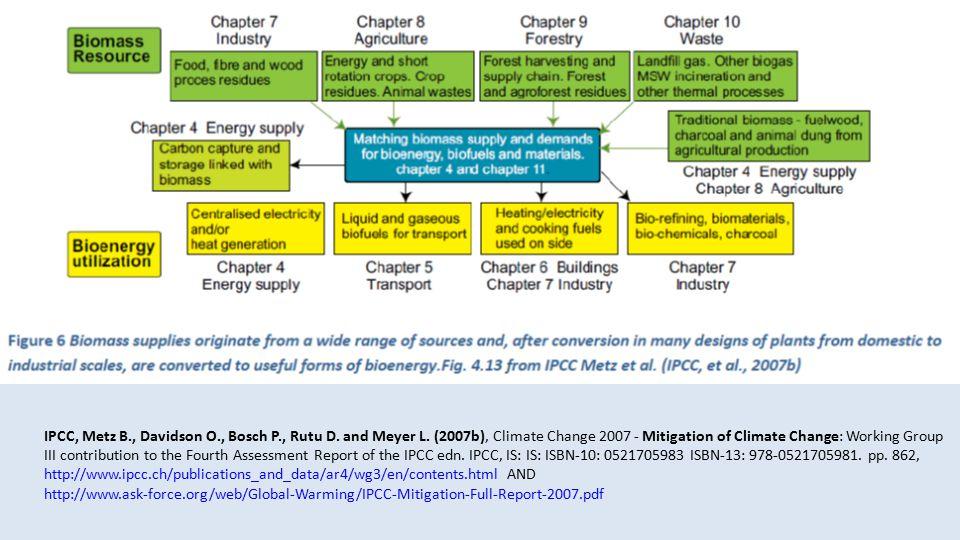 IPCC, Metz B., Davidson O., Bosch P., Rutu D. and Meyer L.