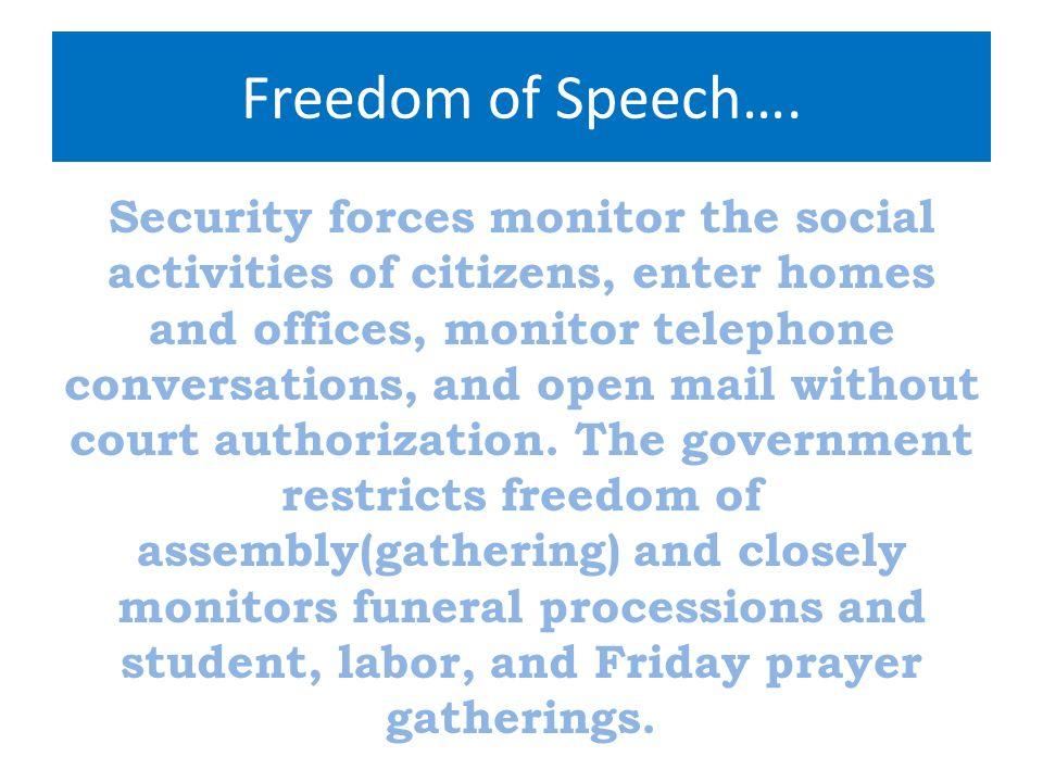 Freedom of Speech….