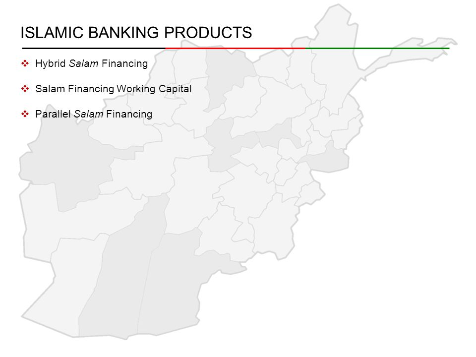 ISLAMIC BANKING PRODUCTS  Hybrid Salam Financing  Salam Financing Working Capital  Parallel Salam Financing