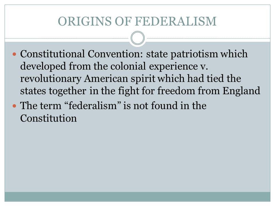 Justification for Federalism Federalist No.