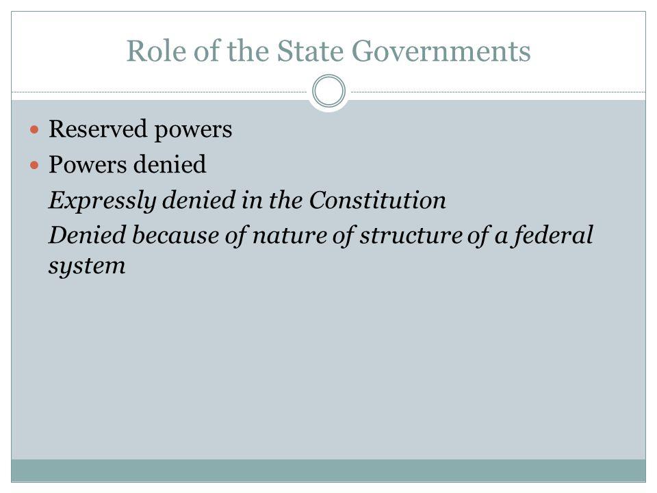 Supreme Court and Federalism McCulloch v.Maryland : Gibbons v.