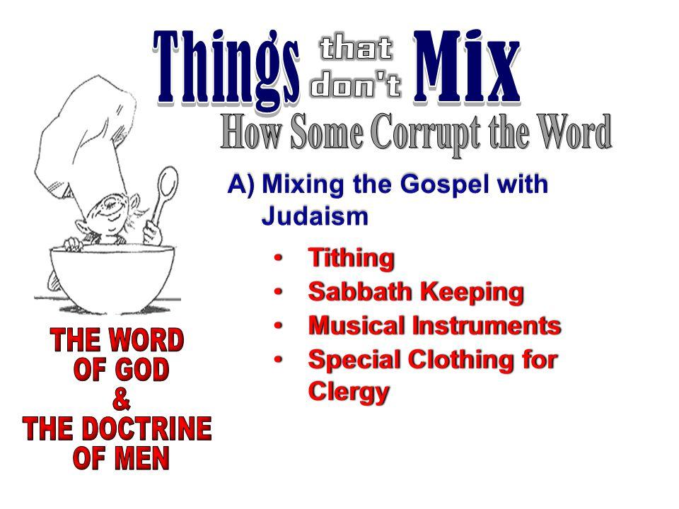 TithingTithing Sabbath KeepingSabbath Keeping Musical InstrumentsMusical Instruments Special Clothing for ClergySpecial Clothing for Clergy