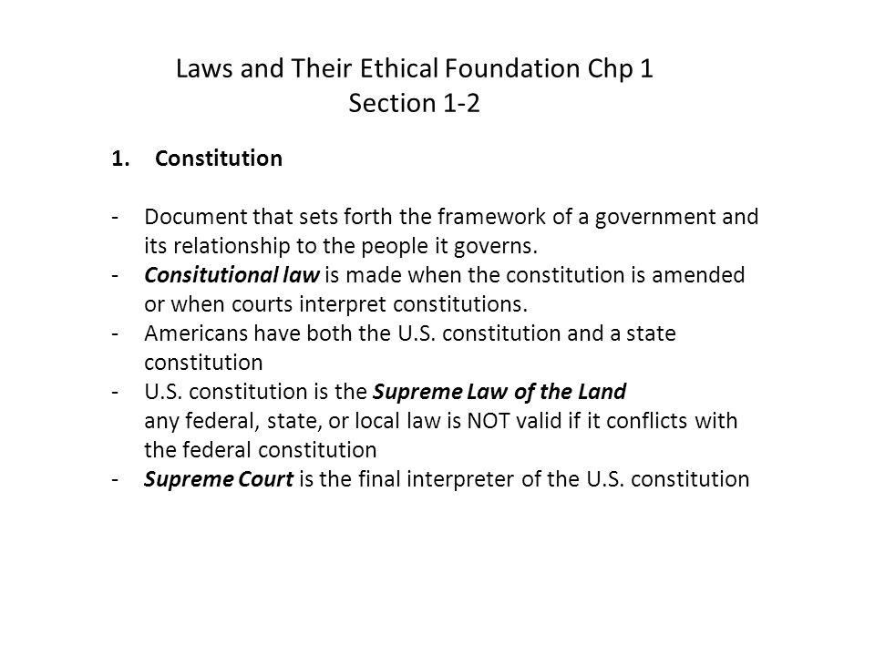Constitutions, cont.-Allocate powers 1.