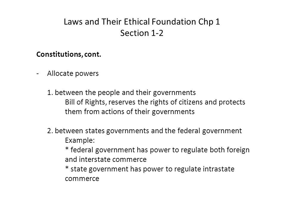 Constitutions, cont.3.