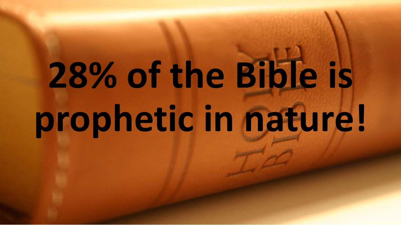 28% of the Bible is prophetic in nature!