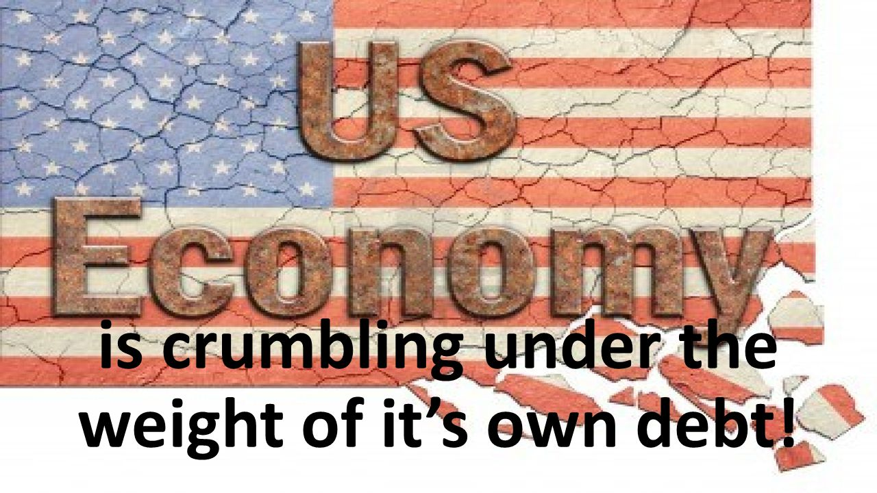 is crumbling under the weight of it's own debt!