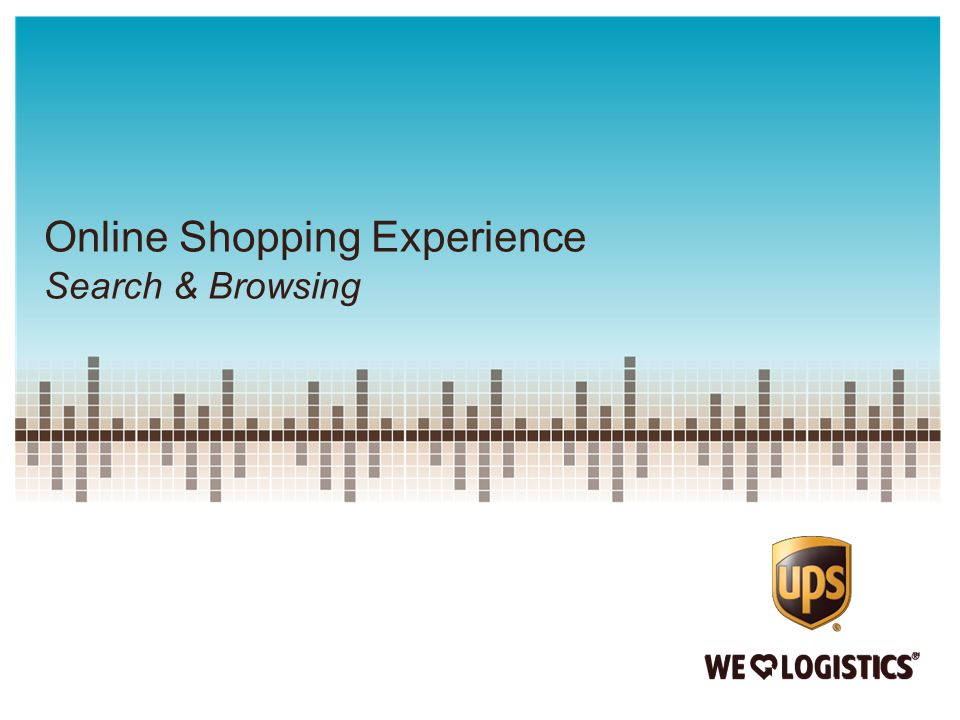 Online Shopping Experience Search & Browsing