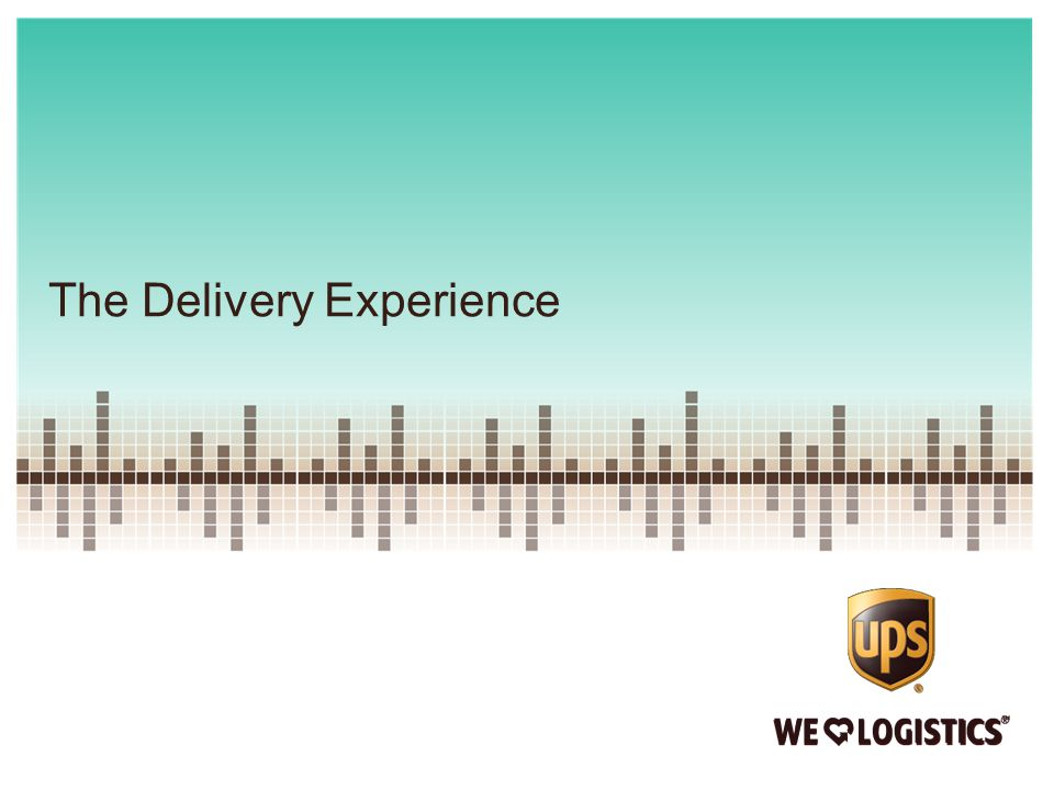 The Delivery Experience