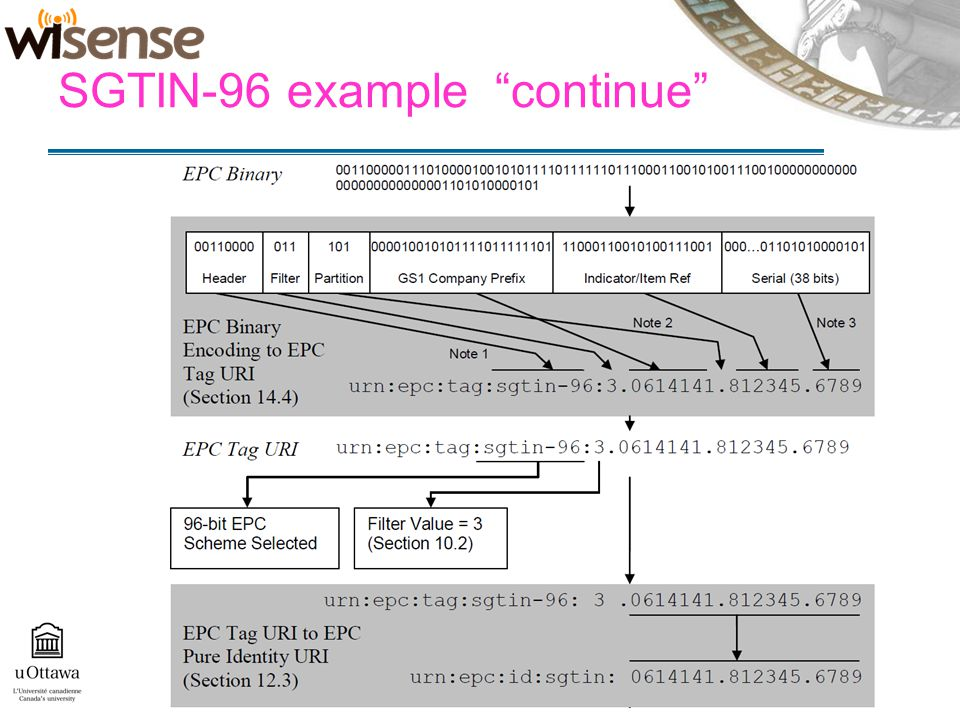 SGTIN-96 example continue