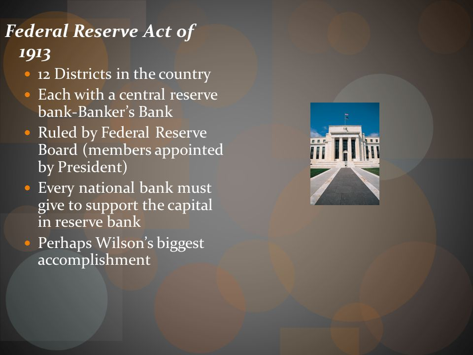 Banking No stable reserve for banks if they experienced mass withdrawals Deposits went to bigger banks, NYC, and then to Wall Street (used in stock ex