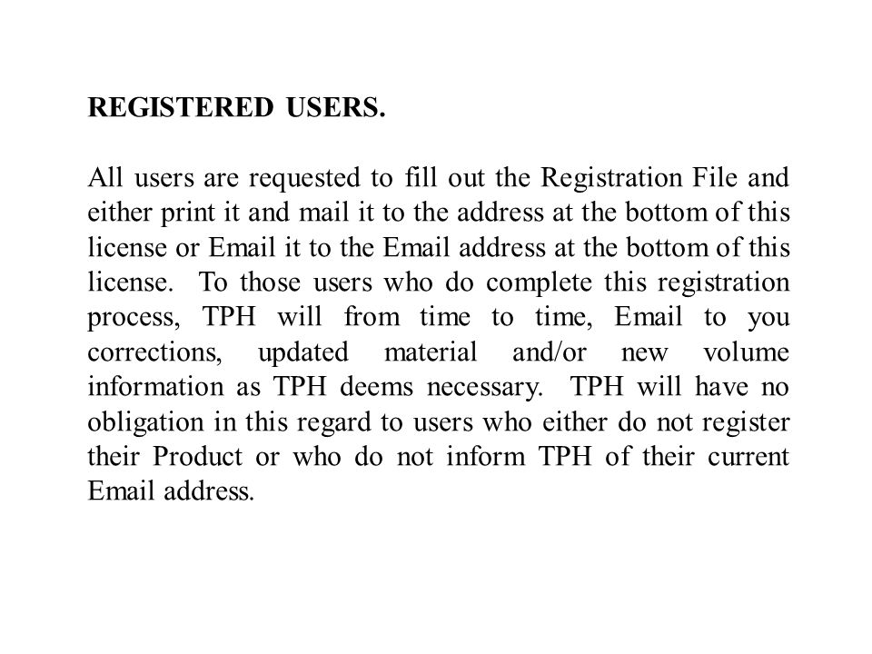 REGISTERED USERS.
