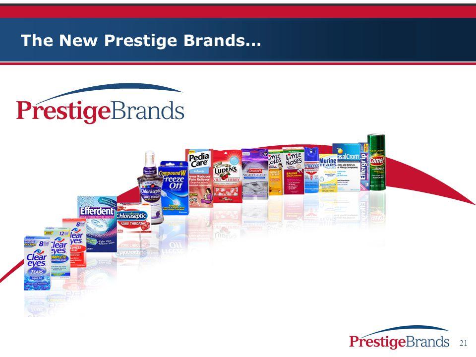 21 The New Prestige Brands…