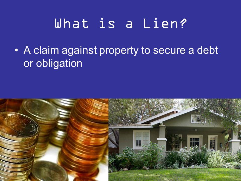 What is a condominium Lien .