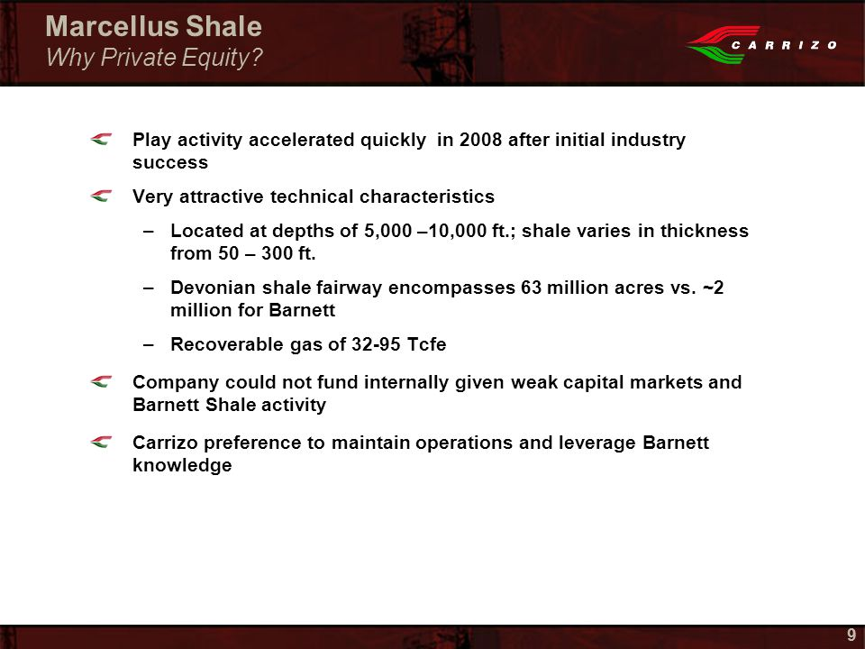 99 Marcellus Shale Why Private Equity.