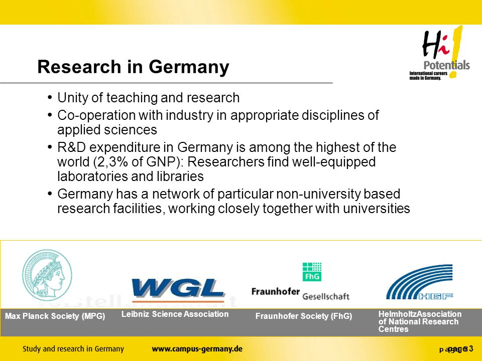 page 2 Research in Germany A tradition in research.