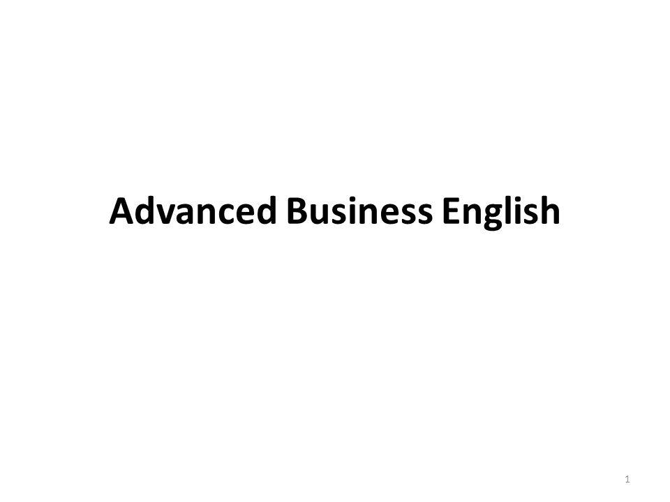 Advanced Business English 1