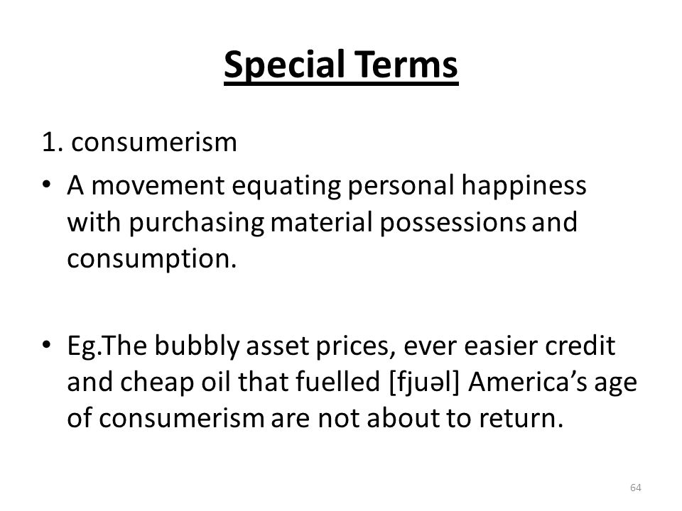 Special Terms 1.