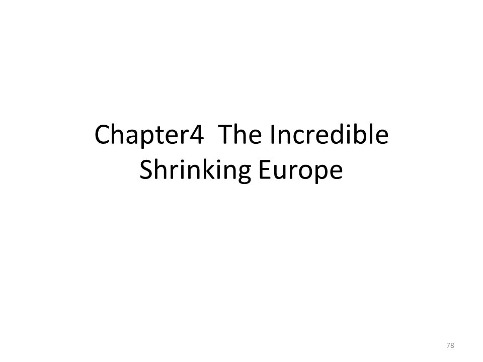 Chapter4 The Incredible Shrinking Europe 78