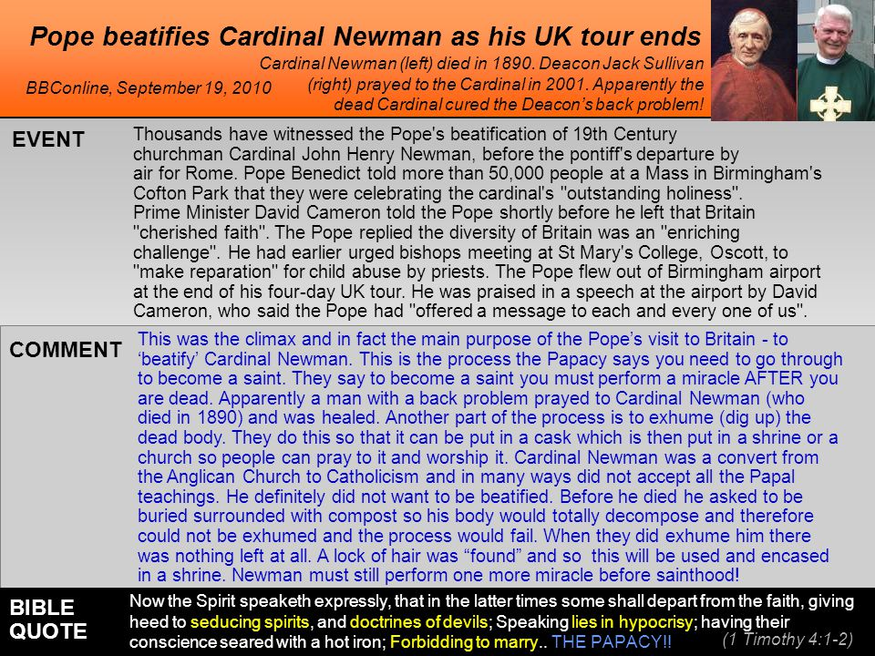 Pope beatifies Cardinal Newman as his UK tour ends Thousands have witnessed the Pope's beatification of 19th Century churchman Cardinal John Henry New