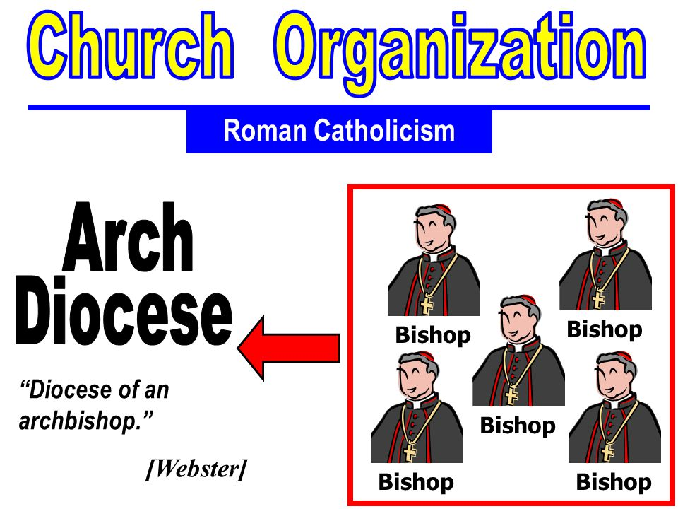 Thematic Studies In Bible Basics Roman Catholicism Diocese of an archbishop. [Webster] Bishop