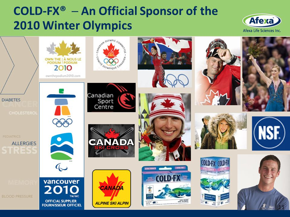 COLD-FX® ─ An Official Sponsor of the 2010 Winter Olympics 11