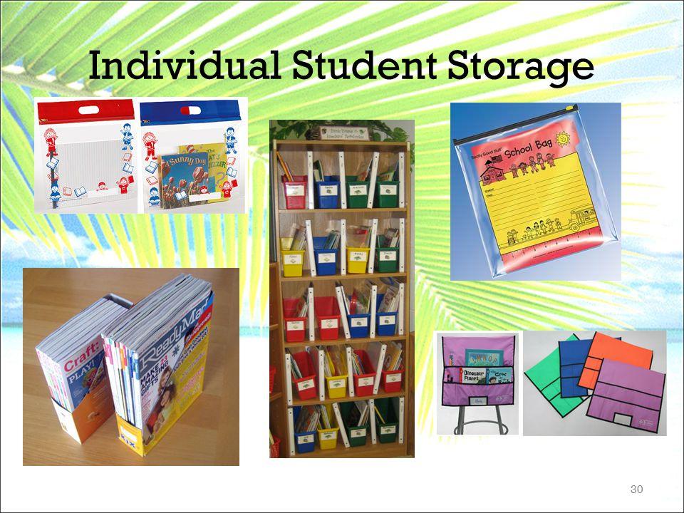 Individual Student Storage 30