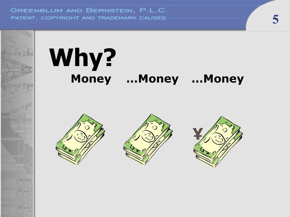 5 Why ¥ ¥ ¥ Money…Money