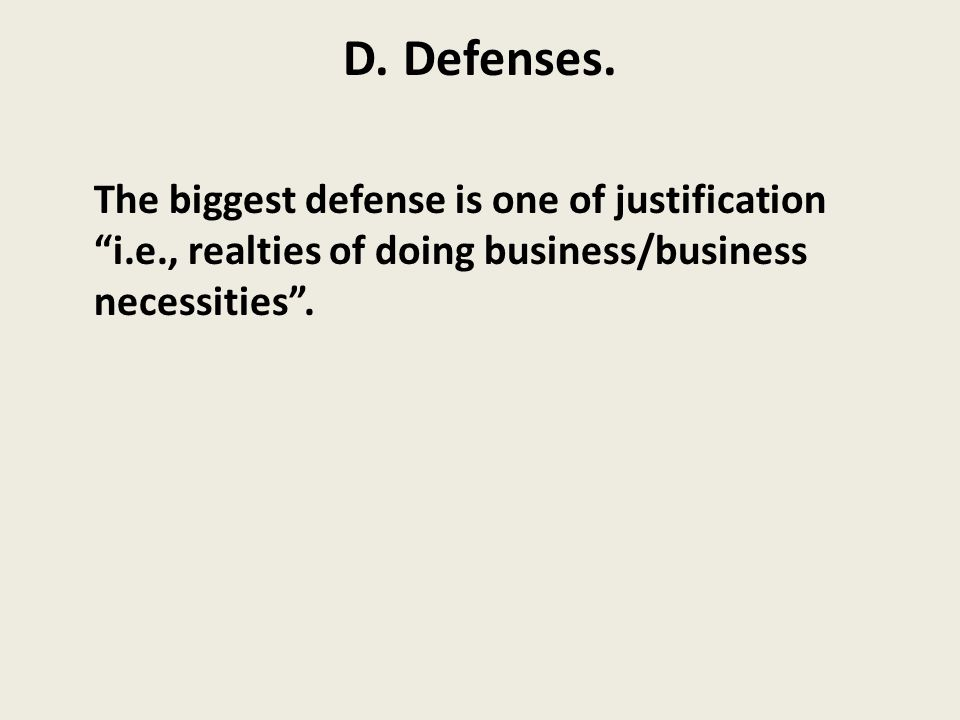 D. Defenses.